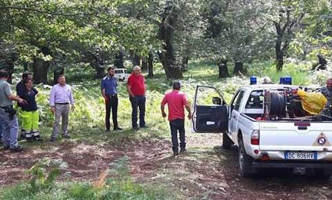 acerno, protezione civile,carabinieri