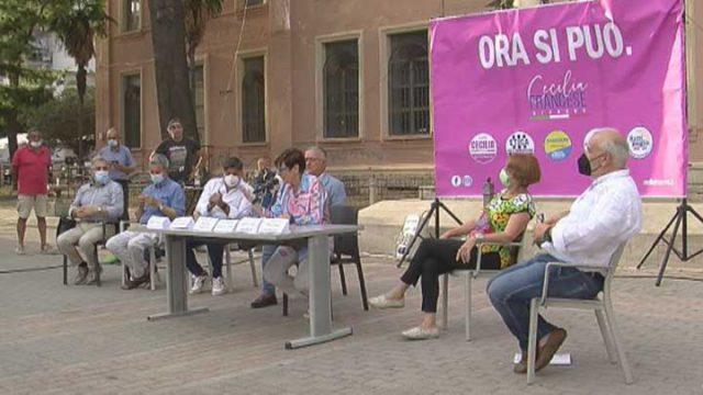 Cecilia Francese conferenza stampa piazza Amendola