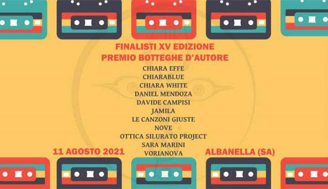 Premio Botteghe D'Autore finalisti 2021