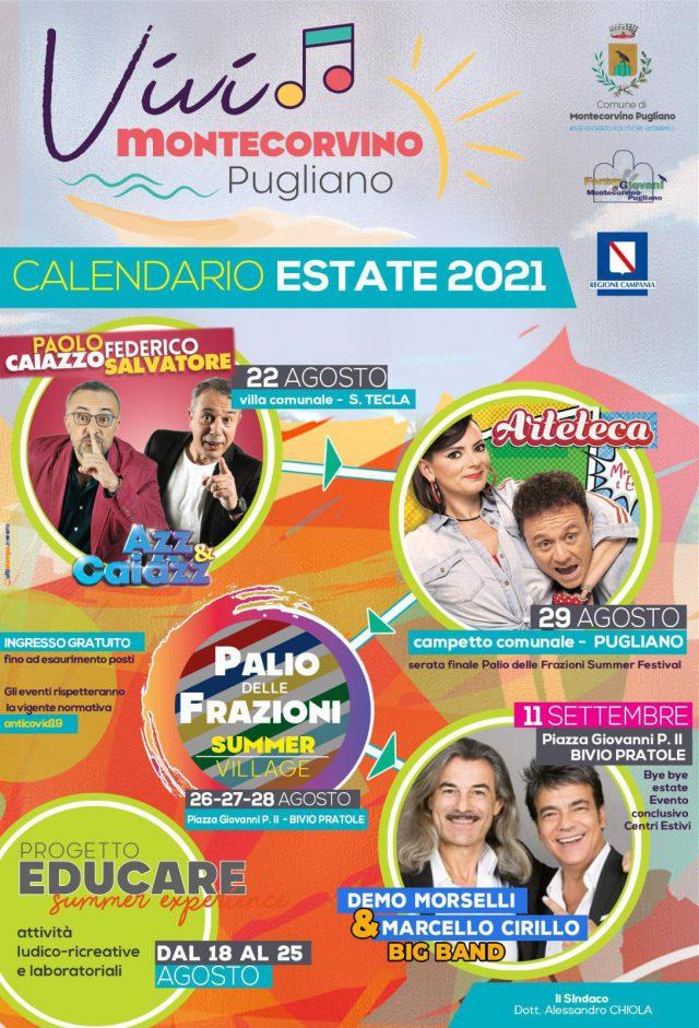 Cartellone eventi estivi Montecorvino Pugliano